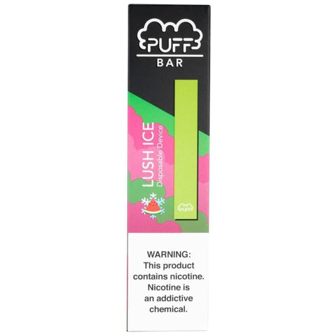 PUFF BAR Disposable Pod Vape - 2% or 5% Salt Nicotine - Lush Ice (1 Pack) - vapersandpapers.com