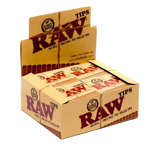 RAW Pre-Rolled Tips - 20 Count Box - vapersandpapers.com