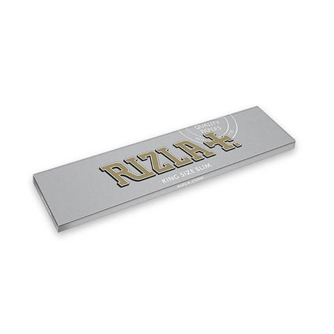 Rizla Silver Kingsize Slim Rolling Paper - 32-Leaf Single Booklet - vapersandpapers.com