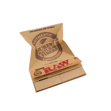 RAW Classic Artesano Kingsize Slim Rolling Paper w/ Tips & Tray - 33-Leaf Single Booklet - vapersandpapers.com