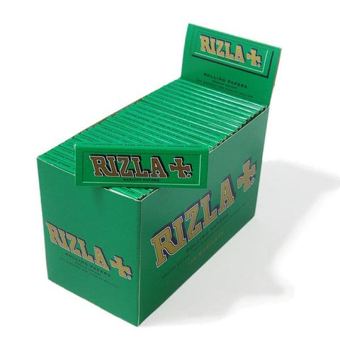 Rizla Green Single Wide Rolling Paper - 100 Count Box - vapersandpapers.com