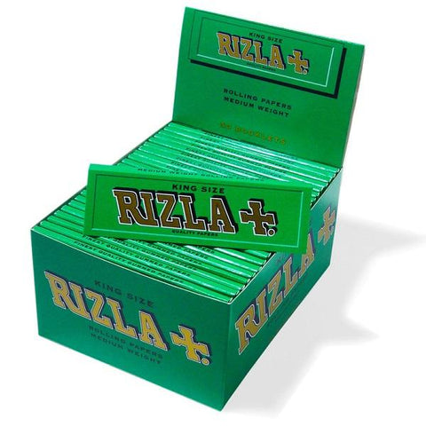 Rizla Green King Size Rolling Paper - 50 Count Box - vapersandpapers.com
