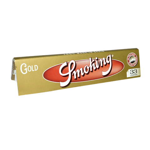 Smoking Gold Kingsize Rolling Paper - 33-Leaf Single Booklet - vapersandpapers.com