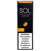 SOL 1.0mL Disposable Pod Vape - 5% Salt Nicotine - Mango (1 Pack) - vapersandpapers.com