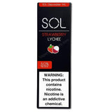 SOL 1.0mL Disposable Pod Vape - 5% Salt Nicotine - Strawberry Lychee (1 Pack) - vapersandpapers.com
