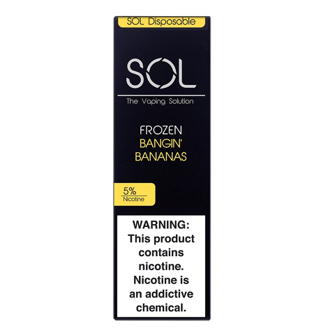 SOL 1.0mL Disposable Pod Vape - 5% Salt Nicotine - Frozen Bangin Bananas (1 Pack)