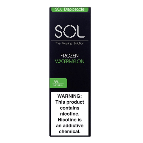 SOL 1.0mL Disposable Pod Vape - 5% Salt Nicotine - Frozen Watermelon (1 Pack)
