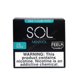SOL FEELM 1.5mL Pod Tanks - 2% or 5% Salt Nicotine - Menthol (2 Pack) - vapersandpapers.com