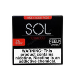 SOL FEELM 1.5mL Pod Tanks - 2% or 5% Salt Nicotine - Tobacco Red (2 Pack) - vapersandpapers.com