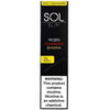 SOL Slim 1.3mL Disposable Pod Vape - 5% Salt Nicotine - Frozen Strawberry Banana (1 Pack) - vapersandpapers.com