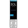 SOL Slim 1.3mL Disposable Pod Vape - 5% Salt Nicotine - Spearmint (1 Pack) - vapersandpapers.com