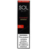 SOL Slim 1.3mL Disposable Pod Vape - 5% Salt Nicotine - Strawberry Banana (1 Pack) - vapersandpapers.com