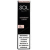 SOL Slim 1.3mL Disposable Pod Vape - 5% Salt Nicotine - Strawberry Cream (1 Pack) - vapersandpapers.com