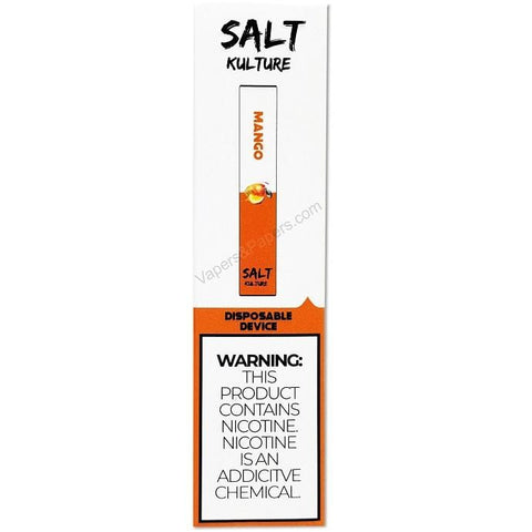 SALT KULTURE STIK 1.3mL Disposable Pod Vape - 5.8% Salt Nicotine - Mango (1 Pack) - vapersandpapers.com