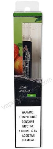 Sigma Disposable e-Hookah - ZERO Nicotine - Apple - vapersandpapers.com