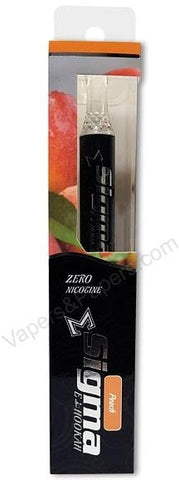 Sigma Disposable e-Hookah - ZERO Nicotine - Peach - vapersandpapers.com