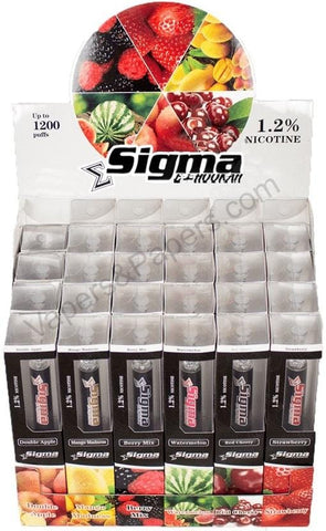 Sigma Disposable e-Hookah - 24 Count Variety Box w/ 1.2% Nicotine - vapersandpapers.com