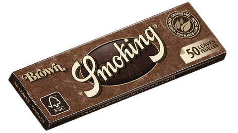 Smoking Brown 1 1/4 Rolling Paper - 50-Leaf Single Booklet - vapersandpapers.com