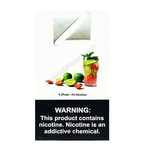 ZiiP JUUL Compatible 4% or 5% Salt Nicotine Pod Tanks - Strawberry Lemonade (4 Pack) DISCONTINUED -  LIMITED SUPPLY - vapersandpapers.com