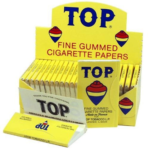 Top Single Wide Rolling Paper - 24 Count Box - vapersandpapers.com