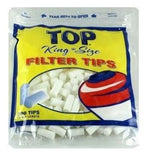 Top King Size Cigarette Filter Tips - 18mm Cigarette Filters (200 Count Single Pack) - vapersandpapers.com