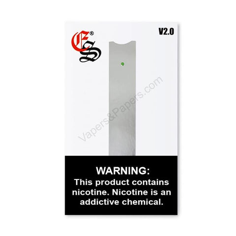 eonsmoke V2 JUUL Compatible Pod Vape Device Kit  - Pod Vaporizer (Silver Chrome) - vapersandpapers.com