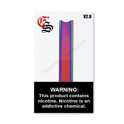 eonsmoke V2 JUUL Compatible Pod Vape Device Kit  - Pod Vaporizer (Rainbow Chrome) - vapersandpapers.com