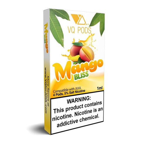 VQ JUUL Compatible Pod Tanks - 5% Salt Nicotine - Mango Bliss (4 Pack)