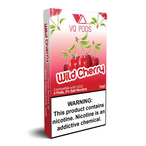 VQ 1.0mL Juul Compatible Pod Tanks - 5% Salt Nicotine - Wild Cherry (4 Pack) DISCONTINUED -  LIMITED SUPPLY - vapersandpapers.com