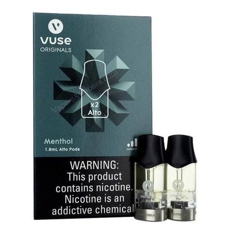 VUSE ALTO 1.8mL Pod Tanks - 1.8%, 2.4% or 5.0% Salt Nicotine - Menthol (2 Pack) - vapersandpapers.com