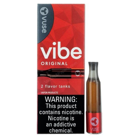 VUSE VIBE 1.9mL Clearomizer Tank - 3.0% Salt Nicotine - Tobacco (2 Pack) - vapersandpapers.com