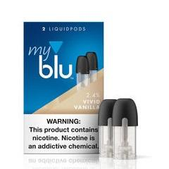 myblu™ Liquidpod 1.5mL Pod Tanks - 2.4% Nicotine - Vivid Vanilla (2 Pack) DISCONTINUED - LIMITED SUPPLY - vapersandpapers.com