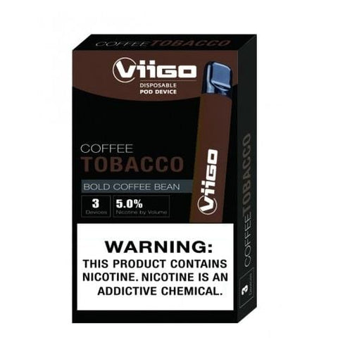 ViiGO 1.6mL Disposable Pod Vape - 5% Salt Nicotine - Coffee Tobacco (3 Pack) - vapersandpapers.com