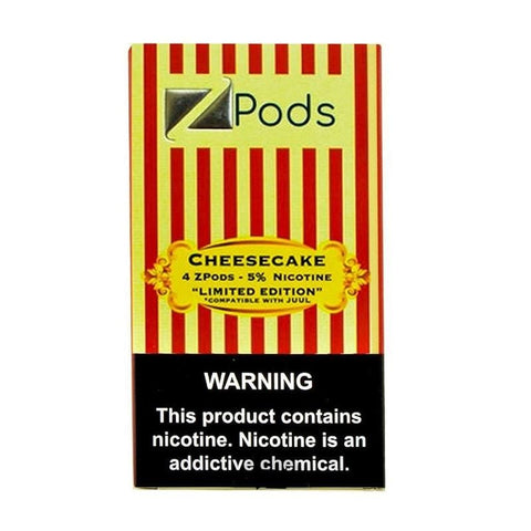 ZiiP JUUL Compatible 4% or 5% Salt Nicotine Pod Tanks - Cheesecake (4 Pack) Limited Edition - vapersandpapers.com