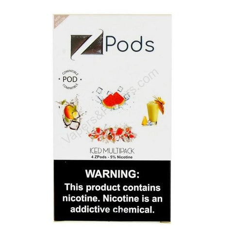 ZiiP JUUL Compatible 4% or 5% Salt Nicotine Pod Tanks - Iced Variety Pack (4 Pack) DISCONTINUED -  LIMITED SUPPLY - vapersandpapers.com