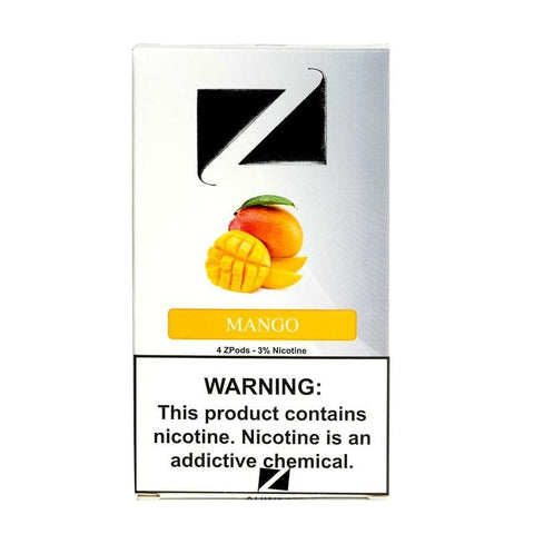 ZiiP JUUL Compatible 3%, 5% or 6% Salt Nicotine Pod Tanks - Mango (4 Pack) DISCONTINUED -  LIMITED SUPPLY - vapersandpapers.com