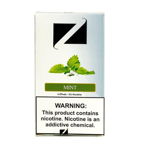 ZiiP JUUL Compatible 4% or 5% Salt Nicotine Pod Tanks - Mint (4 Pack) - vapersandpapers.com