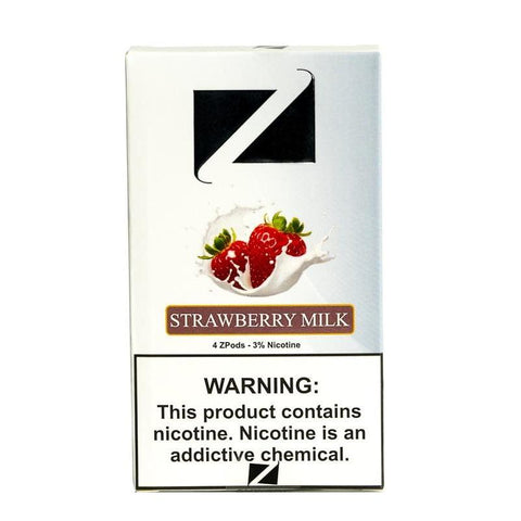 ZiiP JUUL Compatible 4% or 5% Salt Nicotine Pod Tanks - Strawberry Milk (4 Pack) - vapersandpapers.com
