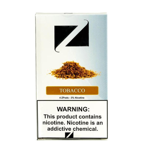 ZiiP JUUL Compatible 4% or 5% Salt Nicotine Pod Tanks - Tobacco Flavor (4 Pack) DISCONTINUED -  LIMITED SUPPLY - vapersandpapers.com