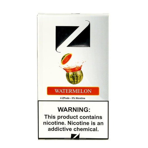 ZiiP JUUL Compatible 4% or 5% Salt Nicotine Pod Tanks - Watermelon (4 Pack) - vapersandpapers.com