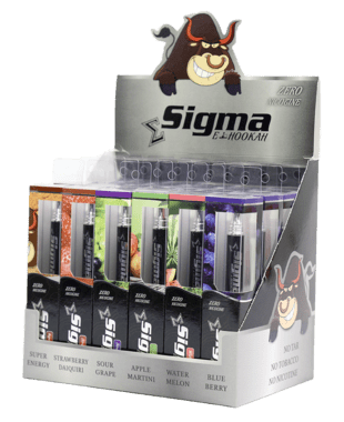 Sigma Disposable e-Hookah - 24 Count Variety Box in ZERO Nicotine