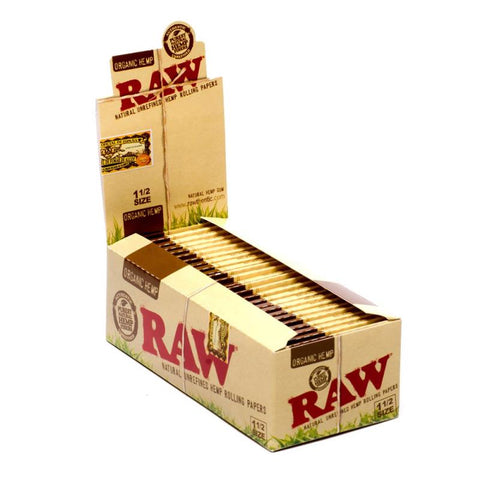RAW Organic 1 1/2 Rolling Paper - 25 Count Box - vapersandpapers.com