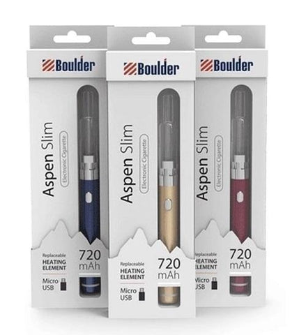 Boulder Aspen Slim Vape Pen Kit - e-Liquid Vaporizer - vapersandpapers.com
