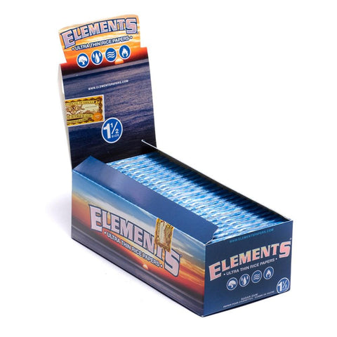 Elements Ultra Thin 1 1/2 Rolling Paper - 25 Count Box - vapersandpapers.com