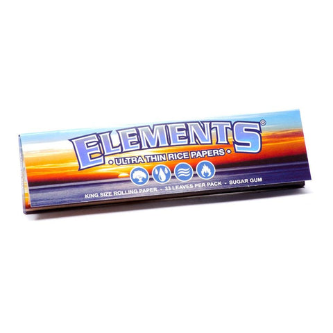 Elements Kingsize Rolling Paper - 33-Leaf Single Booklet - vapersandpapers.com