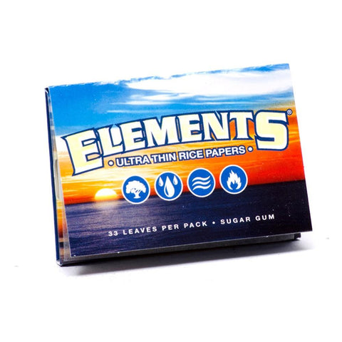 Elements Ultra Thin 1 1/2 Rolling Paper - 33-Leaf Single Booklet - vapersandpapers.com