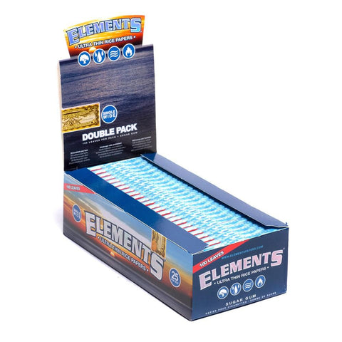 Elements Single Wide Rolling Paper w/ Double Pack - 25 Count Box - vapersandpapers.com