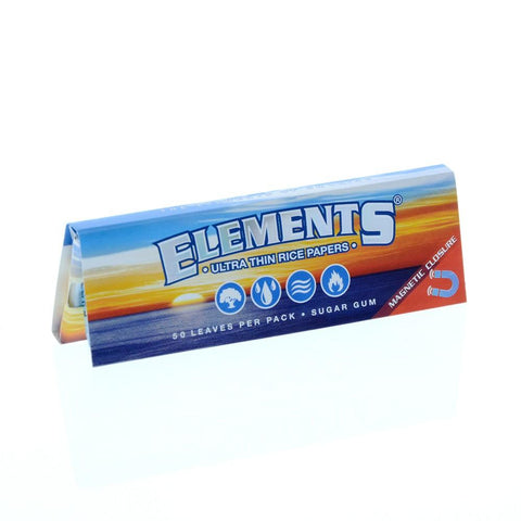 Elements Ultra Thin 1 1/4 Rolling Paper - 50-Leaf Single Booklet - vapersandpapers.com