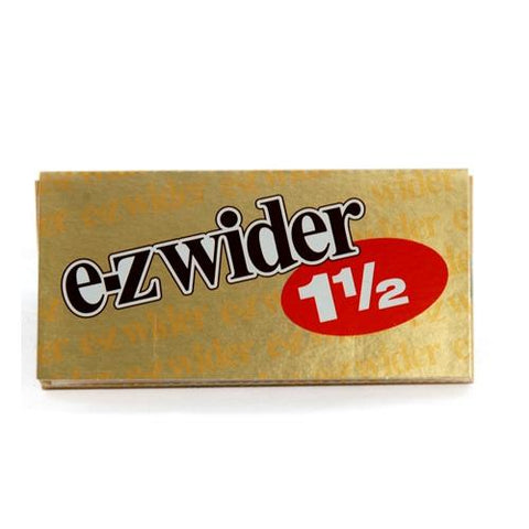 E-Z Wider Gold 1 1/2 Rolling Paper - 24-Leaf Single Booklet - vapersandpapers.com