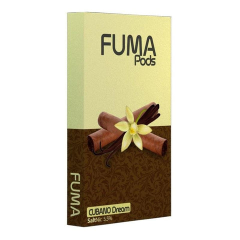 "FUMA JUUL Compatible Pod Tanks - 6% Salt Nicotine - Cubano Dream (4 Pack) DISCONTINUED -  Search ""DISPO"" for Similar Product - vapersandpapers.com"